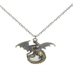 Creative Fashion Men's Luminous Flying Dragon Necklace -
