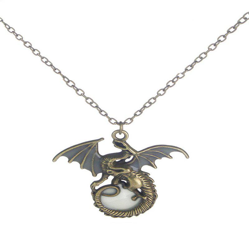 Trendy Creative Fashion Men's Luminous Flying Dragon Necklace