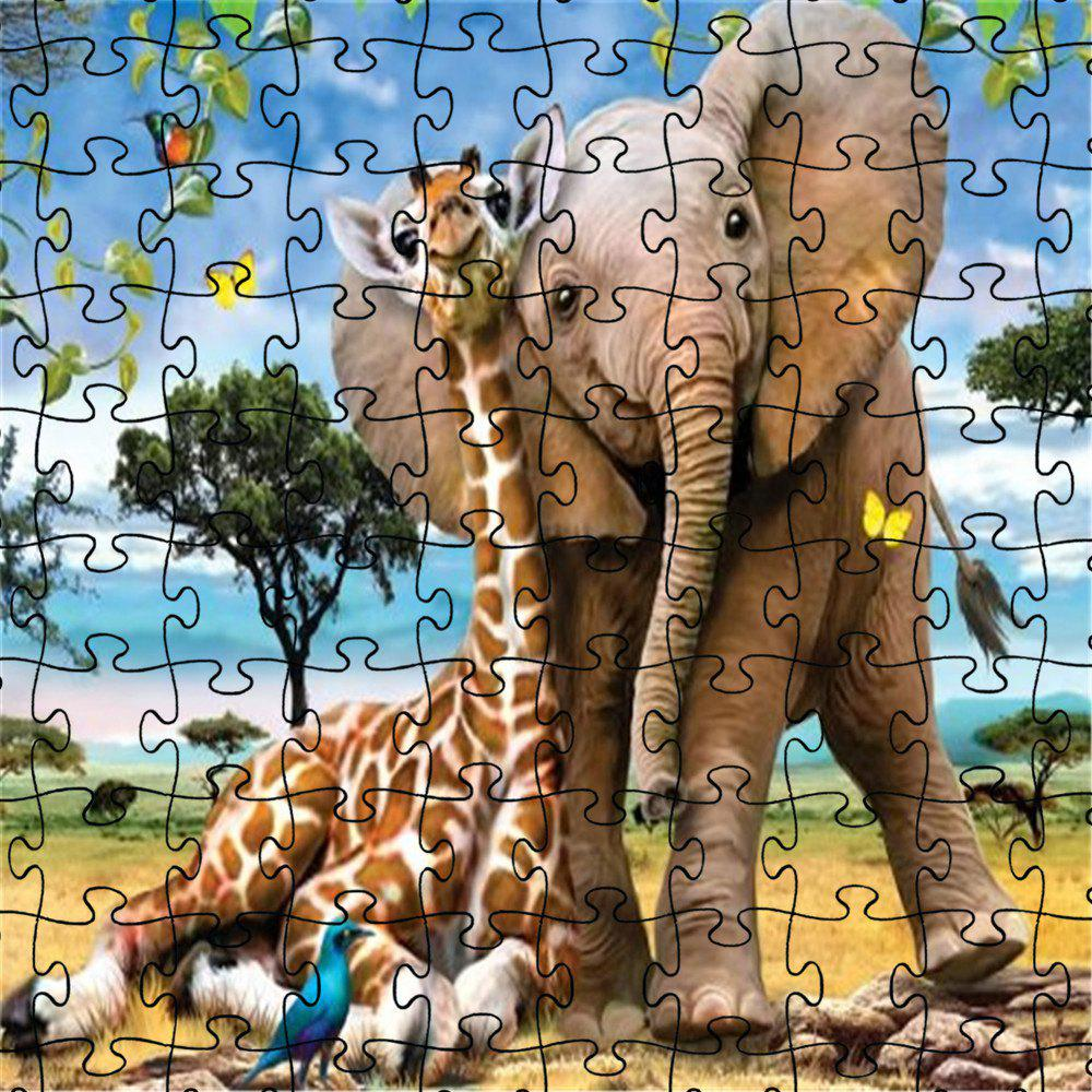 Fashion 3D Jigsaw Paper Elephant Puzzle Block Assembly Birthday Toy