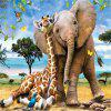 3D Jigsaw Paper Elephant Puzzle Block Assembly Birthday Toy -