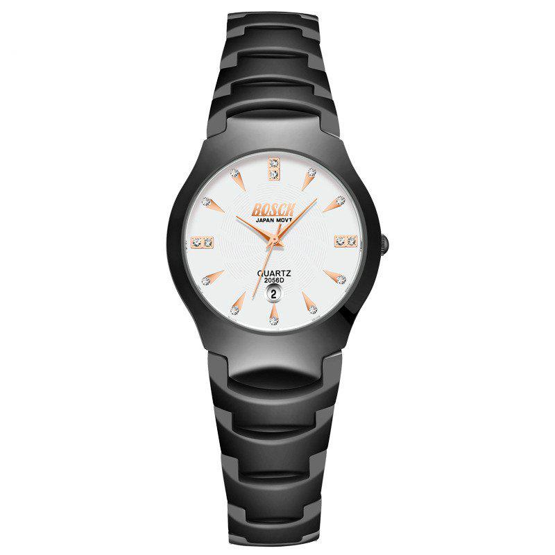 Shop New Fashionable Business Diamond-Inlaid Couple Steel Band Quartz Wrist Watch