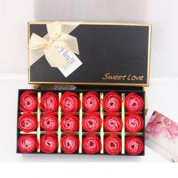 18Pcs/Box Scented Soap Rose Flower Gift for Anniversary/Birthday/Wedding -