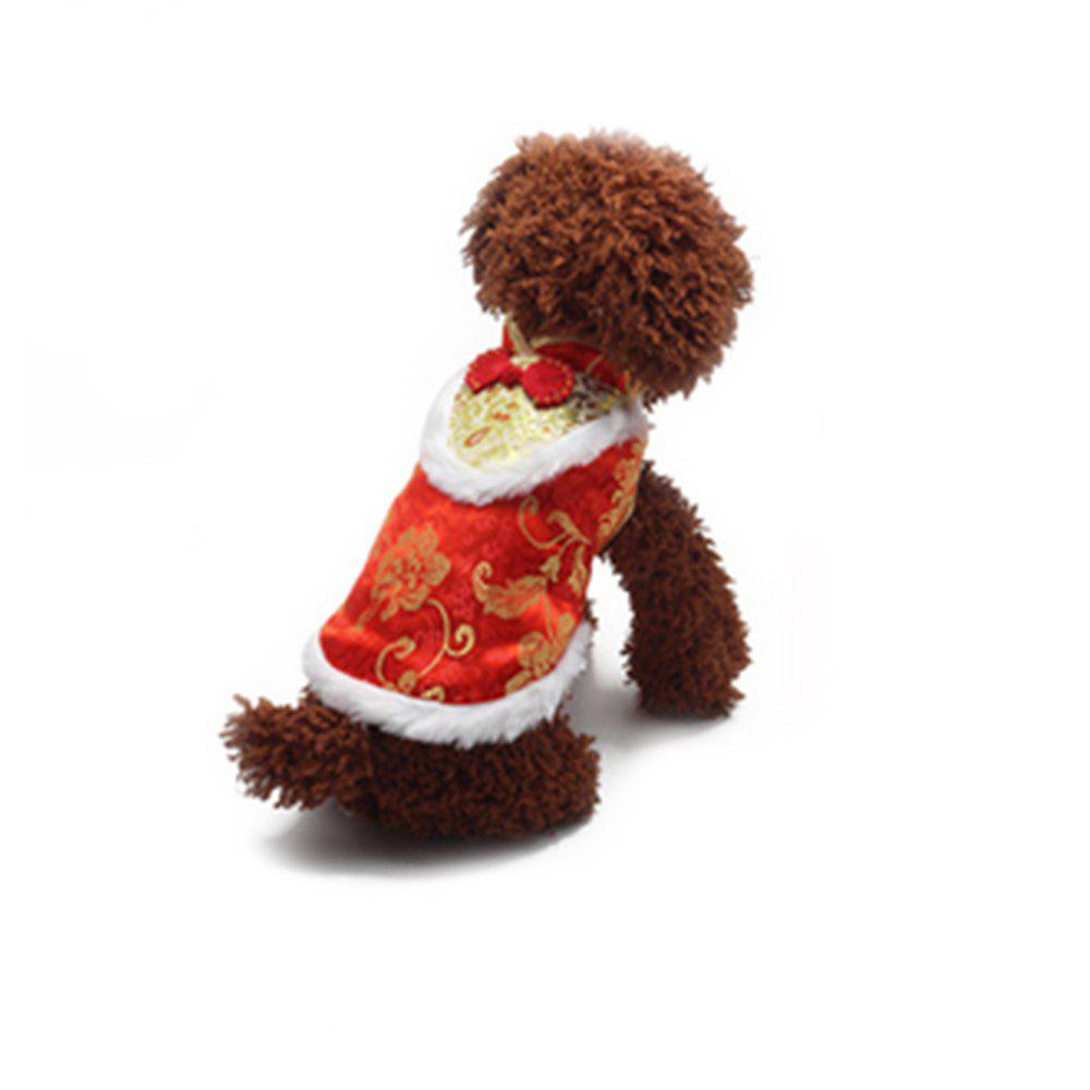 Vêtements de chien de nounours d'animal de rose de noeud Rouge M
