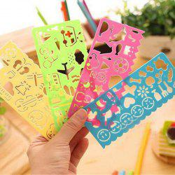 4PCS Painting Template Painting Rulers DIY Handmade Creative Toys -