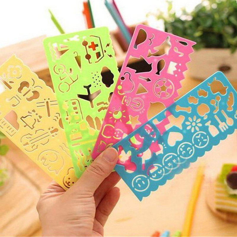 Shops 4PCS Painting Template Painting Rulers DIY Handmade Creative Toys