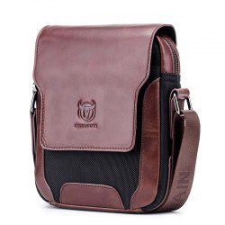 Men's Leather One-Shoulder Diagonal Cross-Head Layer Leather Business Personalit -