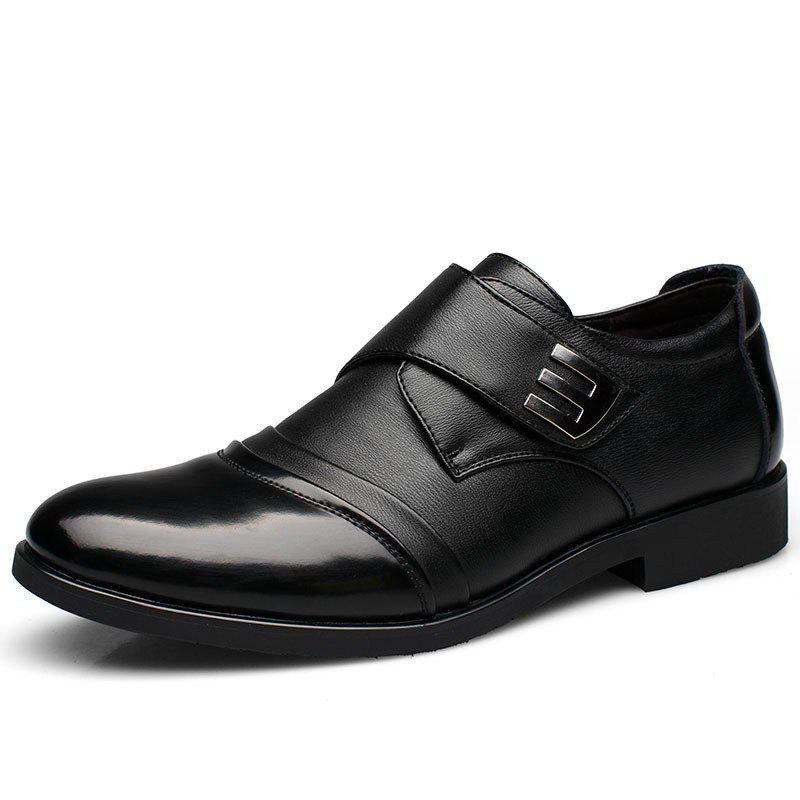 Outfits New Men Classic Color Blocking Hook-Loop Business Casual Leather Shoes