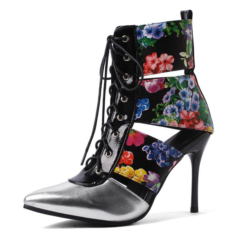 Shops Spring Fashion New Stitching Stilettos with Pointed Toes