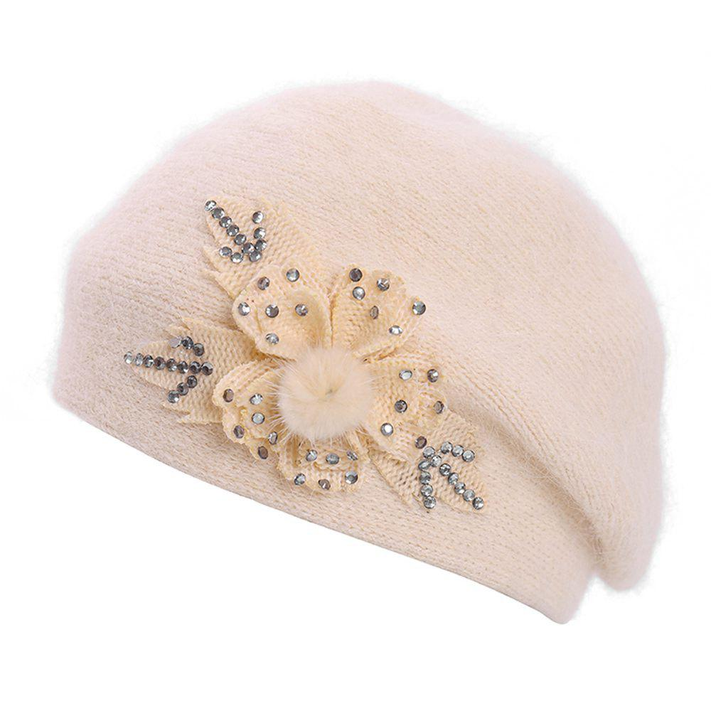 Shops Ladies Warm Wool Wild Maple Leaf Hot Drilling Casual Fashion Beret