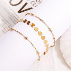 Bohemian Fashion Personality Popular Beach 3 Layer Anklet Simple Anklet -