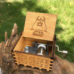 Creative DIY Wooden Hand Carved Music Box of Classical Music Box -