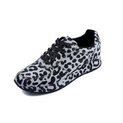 Thick-Bottomed Leopard-Print Sports and Leisure Women'S Shoes -