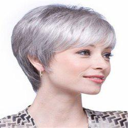 European Beauty Short Hair Middle and Old Wig -