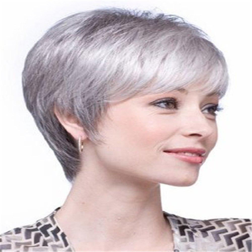 Store European Beauty Short Hair Middle and Old Wig