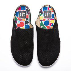 UIN Women's Painted Sidi Black Slip-On  Fashion Travel Shoes Art Casual Shoes -