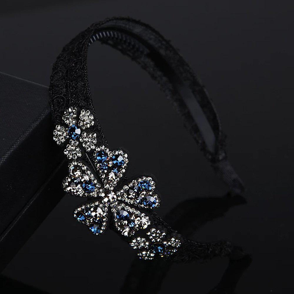 Buy Ladies'Fashion Lace Anti-Skid Hoop with Wide Hairpin and Ribbon Teeth