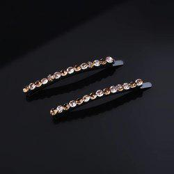 A Pair of Simple Drill-Inlaid Liu Hai One-Word Clip Hairpins -