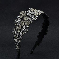 Flower-Set Drill Hoop Fashion Banquet Wide-Edged Exaggerated Hairpin Decoration -