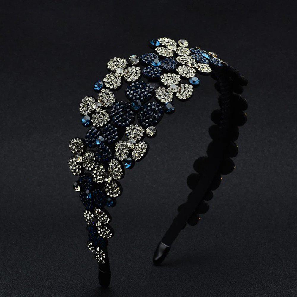 Discount Flower-Set Drill Hoop Fashion Banquet Wide-Edged Exaggerated Hairpin Decoration