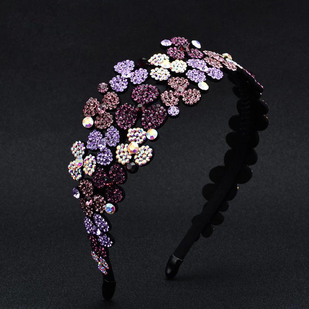 Cheap Flower-Set Drill Hoop Fashion Banquet Wide-Edged Exaggerated Hairpin Decoration