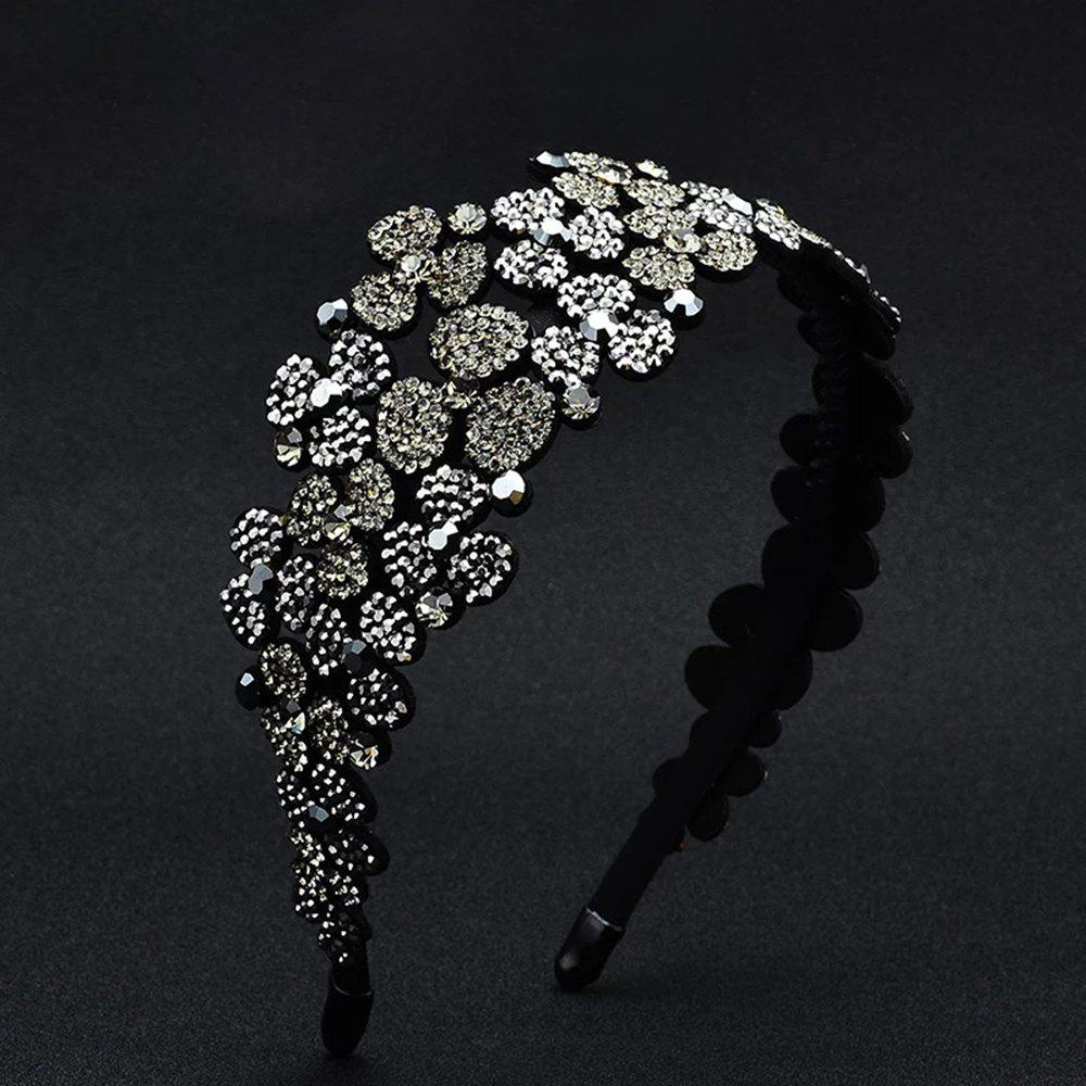 Shop Flower-Set Drill Hoop Fashion Banquet Wide-Edged Exaggerated Hairpin Decoration