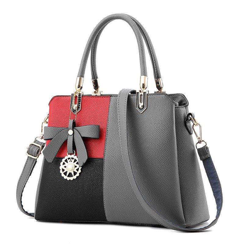 Outfit Euro-American Ladies'Color Matching Handbag with One Shoulder Bag