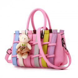 Colour Bumping Single Shoulder Bag Colour Bumping Stitching Handbag with Large L -
