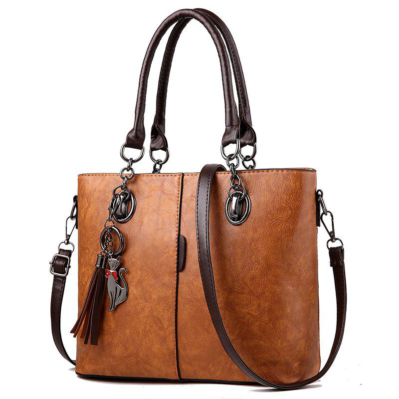 Sale Atmospheric Women'S PU Leather Bag Inclined Shoulder Handbag Large Bag Women