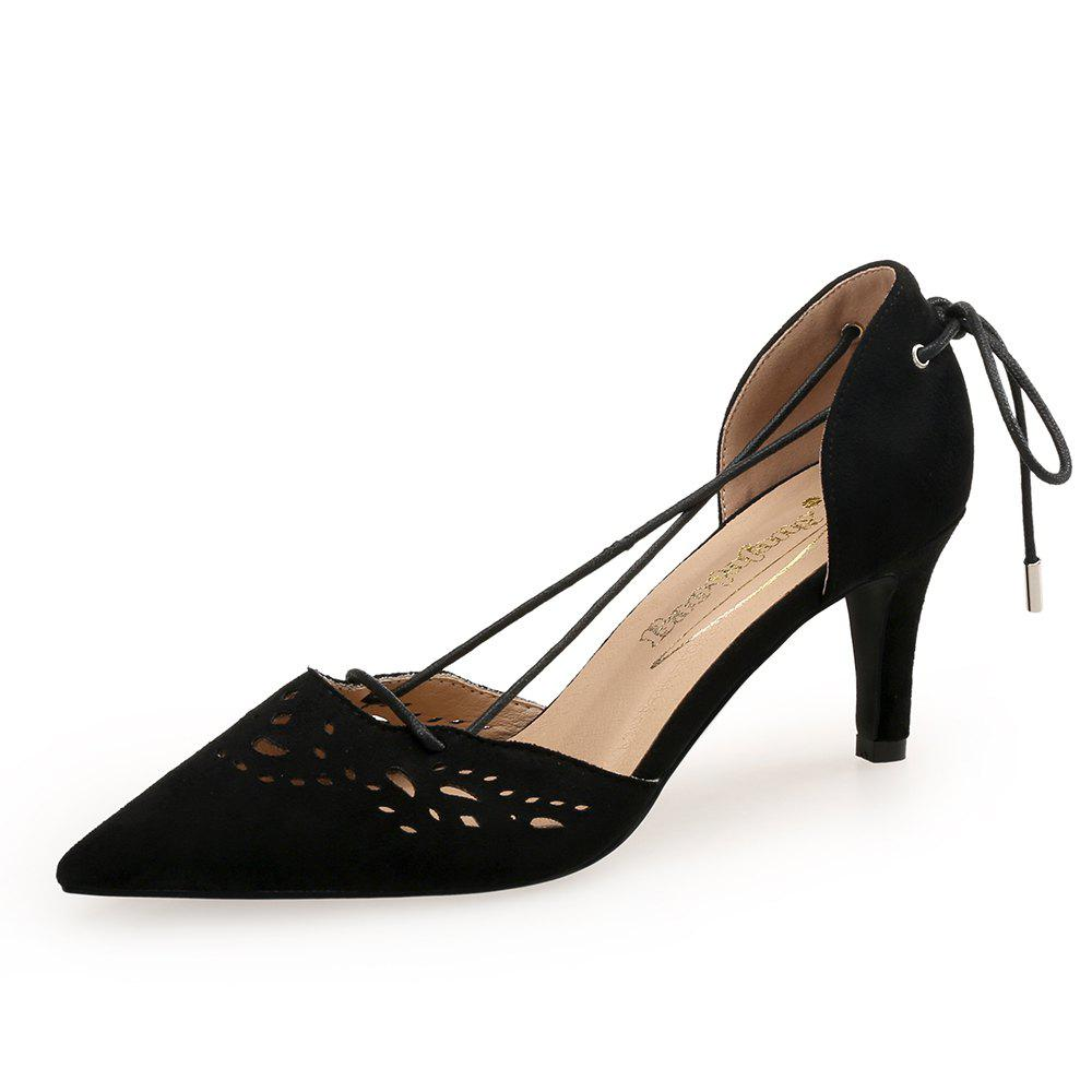 Trendy Pointed Sweet Shallow Mouth Rear Tether Women'S Shoes