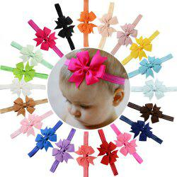 20-COLOR Children'S Hair Band Ribbon Fishtail Bow-Head Band -