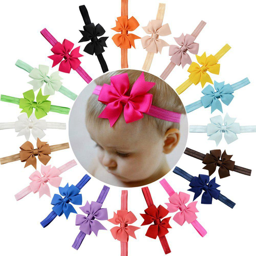 Sale 20-COLOR Children'S Hair Band Ribbon Fishtail Bow-Head Band