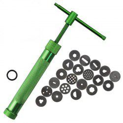 DIY Stainless Steel Extruder Rotary Crowded Clay Mud Gun Decorative Craft Tool -