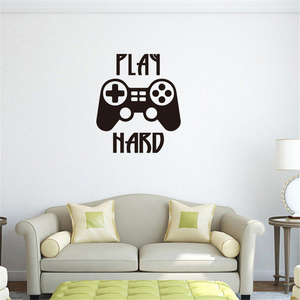 Bild von PLAY HARD Creative Game Handle Game Room Wall Decoration Sticker Removable