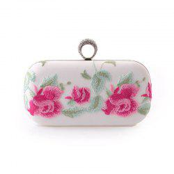 The New Fashion Trend in Female Hand Pu Bag Embroidered Dinner Will Female Bag -