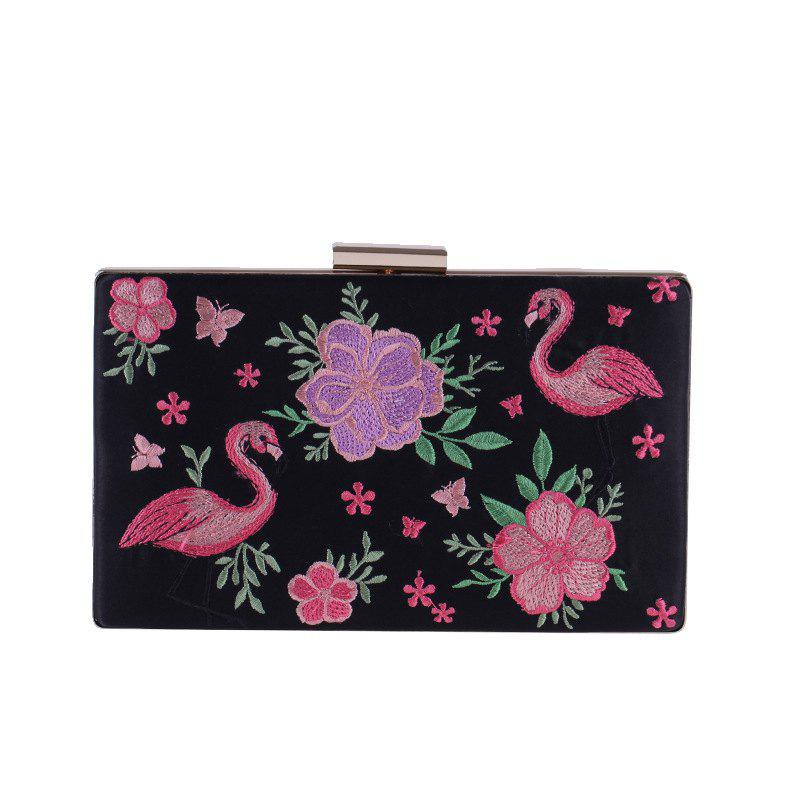 Best The New Fashion Lady'S Hand Bag Flower Embroidery Dinner Will Female Bag
