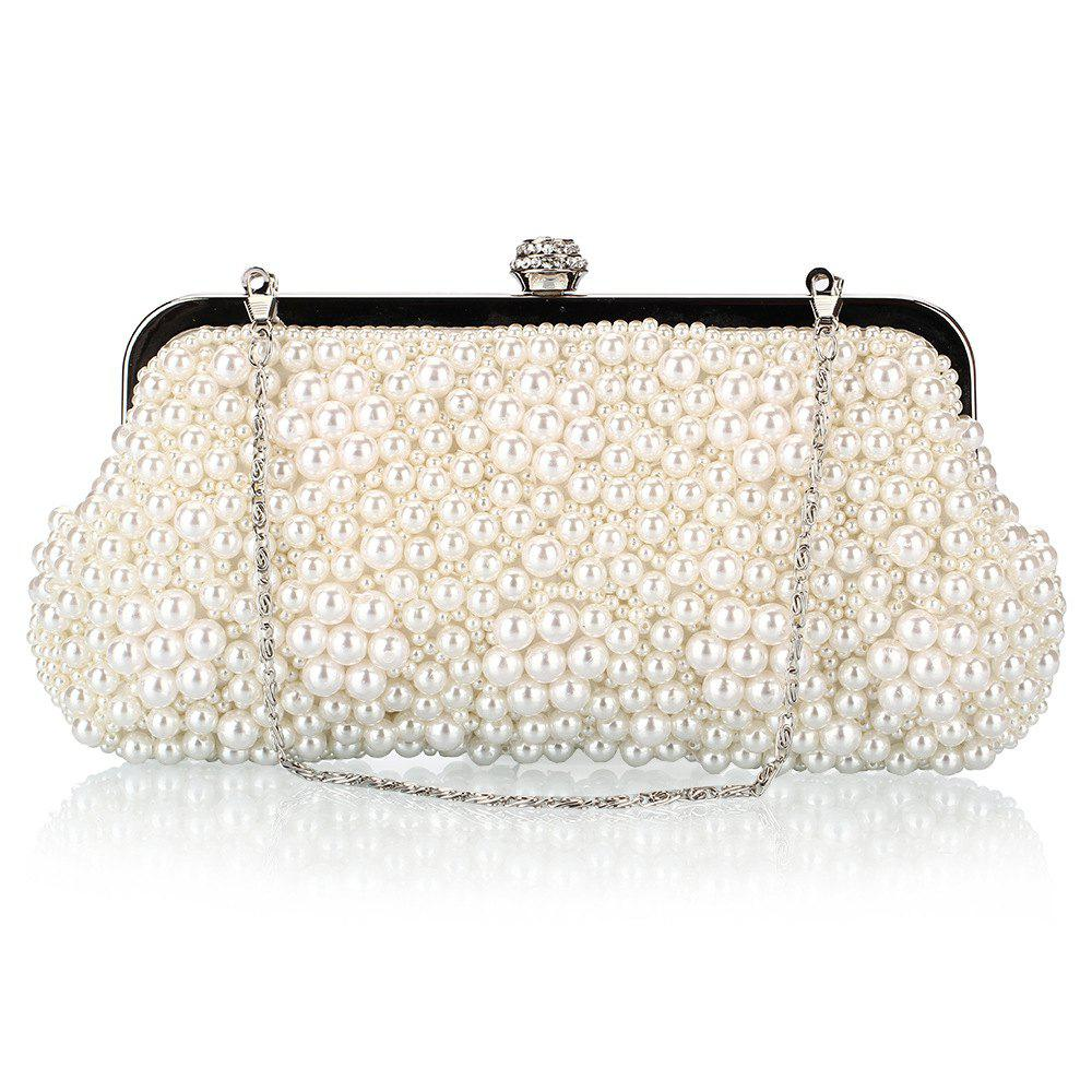 Hot Fashion Pearl Bag Polyester Beads Hand Bag Worn Drill Dinner Packages