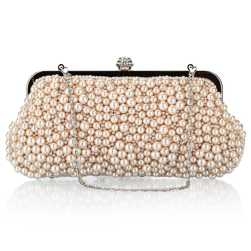 Fashion Fashion Pearl Bag Polyester Beads Hand Bag Worn Drill Dinner Packages