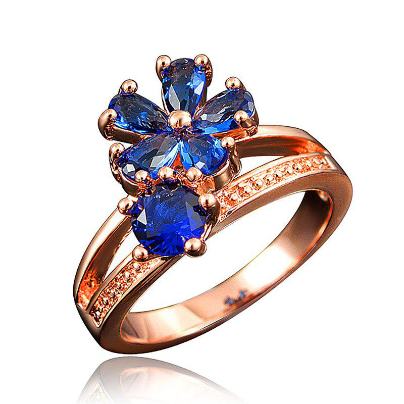 Cheap Fashion 18K Gold Plated Ring Fine Jewelry Flower Shape Ring