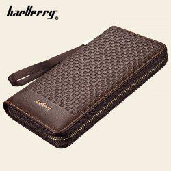 Baellerry Men Portefeuilles Plaid Casual Wallet Men Purse -