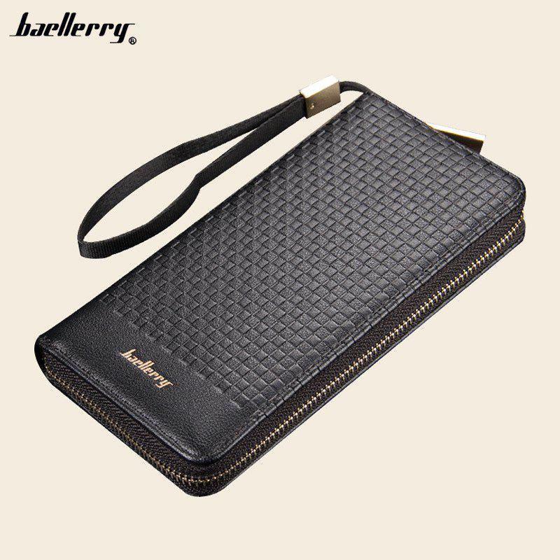 Latest Baellerry Men Wallets Plaid Casual Wallet Men Purse