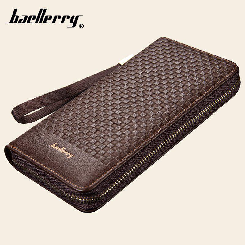 Baellerry Men Portefeuilles Plaid Casual Wallet Men Purse