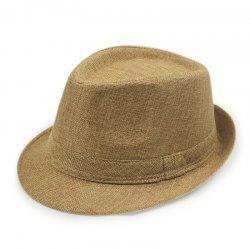 Spring Summer England Men'S Linen Hat Jazz Hat Female Sun Hat Sunscreen Beach -