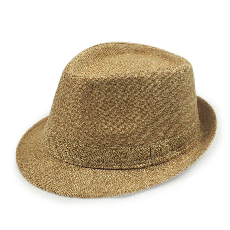 Shops Spring Summer England Men'S Linen Hat Jazz Hat Female Sun Hat Sunscreen Beach