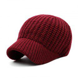 Short Brim Wool Baseball Cap + Adjustable for 56-59CM Head Circumference -