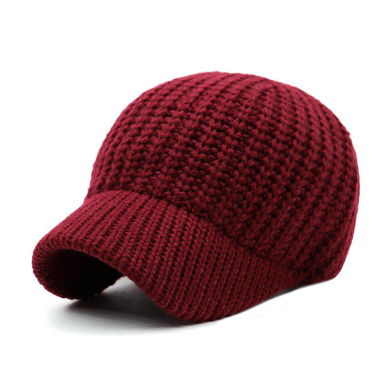 Affordable Short Brim Wool Baseball Cap + Adjustable for 56-59CM Head Circumference