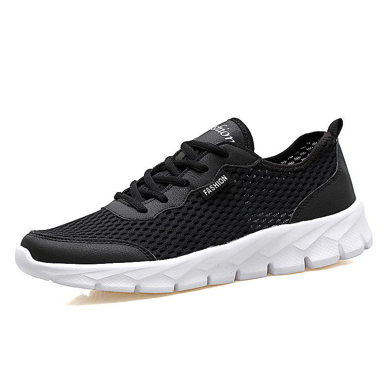 New Men'S Breathable Mesh Openwork Flat Hole Shoes