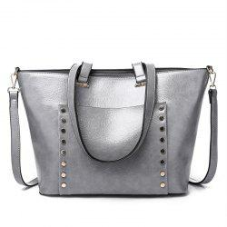 New Fashion Soft Leather Rivet Single Shoulder Diagonal Bag/Winter/Summer/Spring -