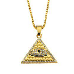 Collier pendentif pyramide œil d'Horus de New York - Or
