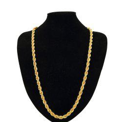 NYUK 0.9cm Thick Men'S Gold-Plated Twist Necklace Ornaments -