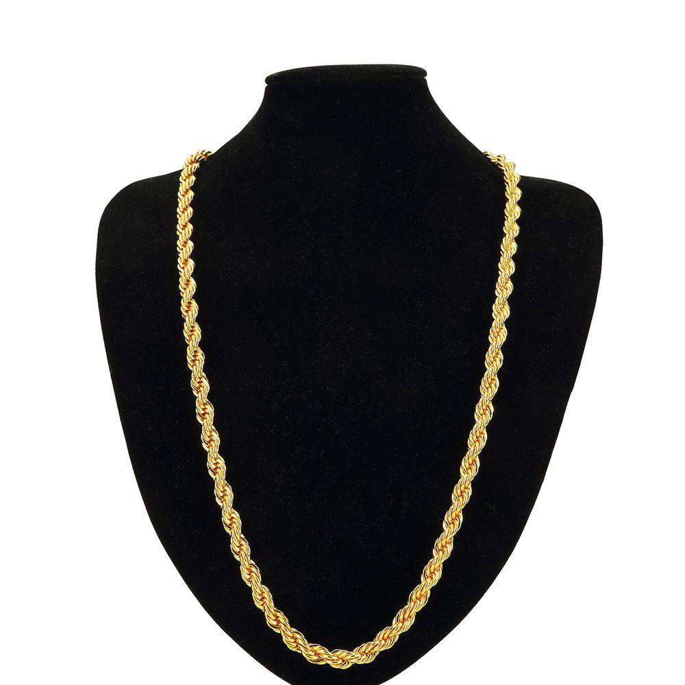 Online NYUK 0.9cm Thick Men'S Gold-Plated Twist Necklace Ornaments